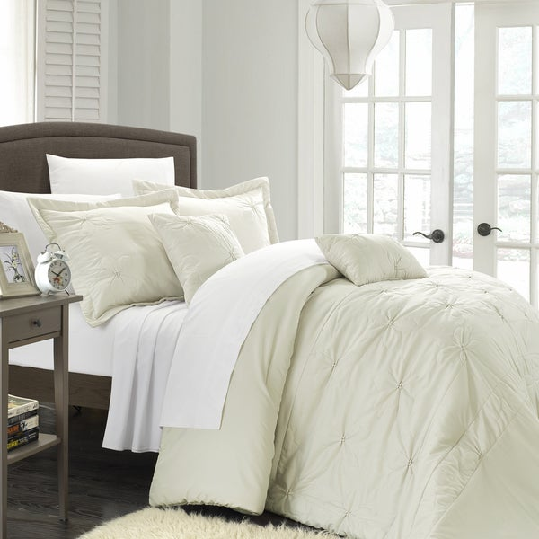 Chic Home Aramitta Floral Quilted Applique 9-piece Comforter Set