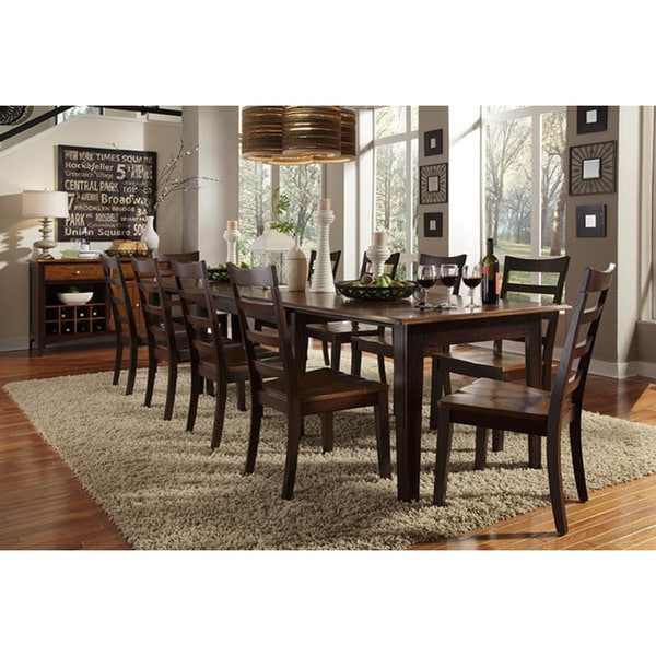 Simply Solid Braelyn 11 Piece Solid Wood Dining Set
