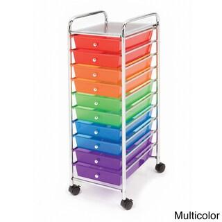 Seville Classics Steel 10-drawer Organizer Rolling Cart