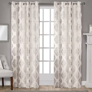 Link to ATI Home Augustus Cotton Grommet Top Curtain Panel Pair Similar Items in Window Treatments