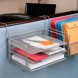 Seville Classics 6-tray Platinum Mesh Office Desk Organizer (Set of 2)