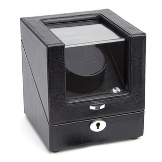 Royce Leather Luxury Battery Powered Single Watch Winder in Genuine Leather