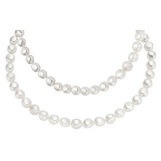 Baroque Cultured Pearls 26 Inch Endless Necklace (7-8mm) - White