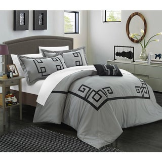 Chic Home Downton Cotton Geometric Applique 8-piece Bed in a Bag Set