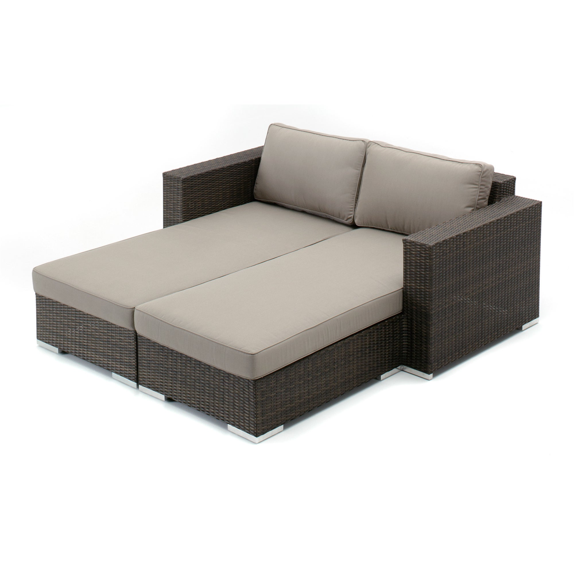 Decorative Modern Outdoor Double Chaise Lounge Overstock 10422928