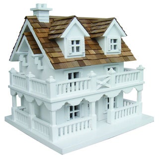 Cape Cod White Birdhouse with Bracket
