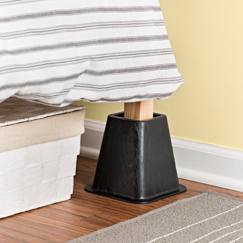 Honey-Can-Do Bed Risers Black (Set of 4)