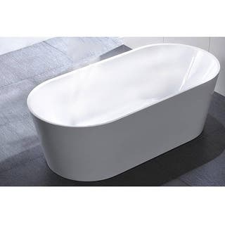60 free standing tub. MTD Vanities Laguna 60  Acrylic Free Standing Tub Tubs For Less Overstock com