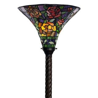 Tiffany-style Rose Torchiere|https://ak1.ostkcdn.com/images/products/1042302/P1008545.jpg?impolicy=medium