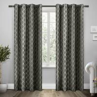 ATI Home Trellis Cotton Grommet Top Curtain Panel Pair