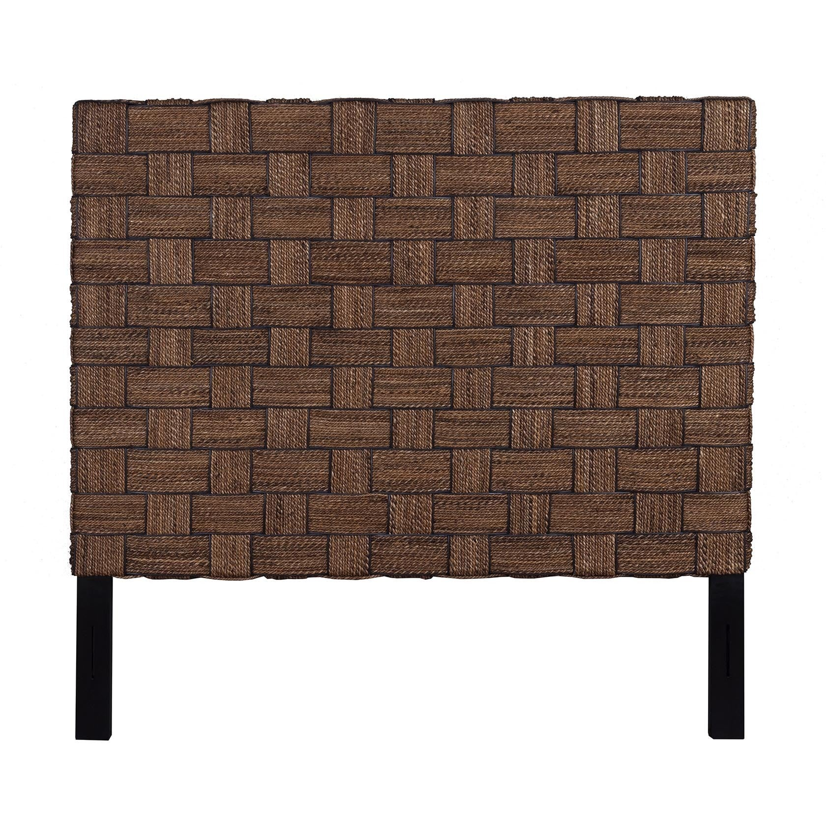 Crafted Home Mead Natural Rustic Abaca Queen Headboard (M...