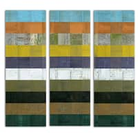 Michelle Calkins 'Wooden Abstract I' Canvas Art
