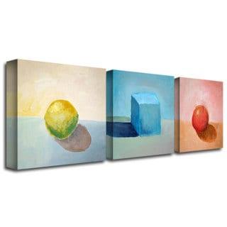 Michelle Calkins 'Lemon Cube Sphere' Canvas Art