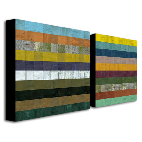 Michelle Calkins 'Wooden Abstract VII' Canvas Art