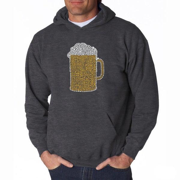LA Pop Art Mens Beer Hooded Sweatshirt