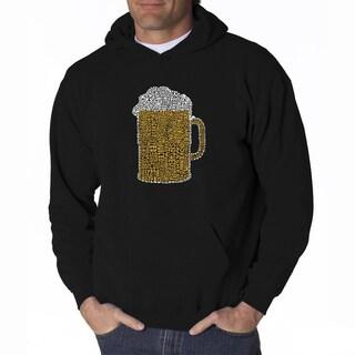 LA Pop Art Men's Beer Hooded Sweatshirt
