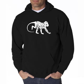 LA Pop Art Men's Monkey Business Hooded Sweatshirt
