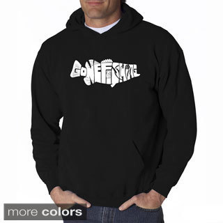 LA Pop Art Men's Gone Fishin' Bass Hooded Sweatshirt