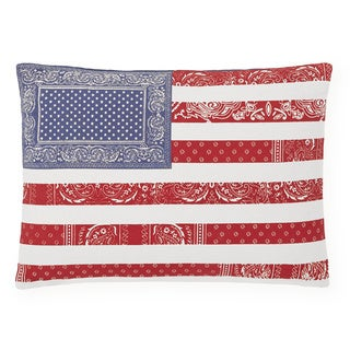 Tommy Hilfiger Red White and Blue Decorative Pillow