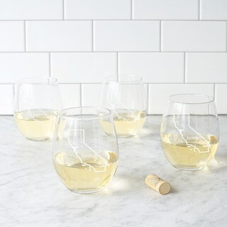 Home State Stemless Wine Glasses (Set of 4)