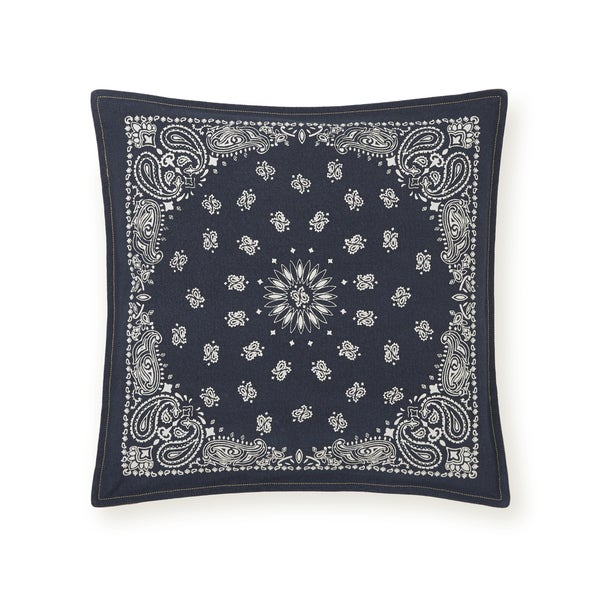 Shop Tommy Hilfiger Navy And Ivory Bandana 40inch Decorative Pillow Stunning Tommy Hilfiger Decorative Pillows