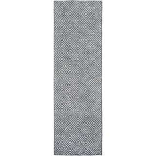 Hand-woven Glossop Geometric Rug (2'6 x 8')