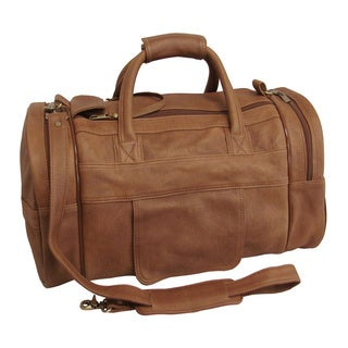 Amerileather 3704-2 Distressed Brown Leather 20-inch Dual Zippered Duffel