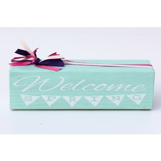 Spring/ Summer Welcome Sign Wood Decor Accent
