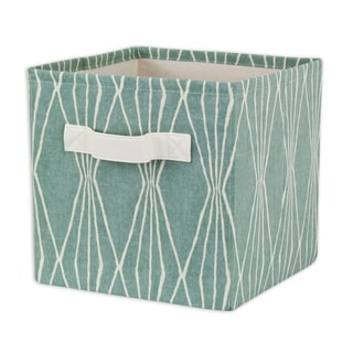 Handcut Shapes Rain Storage Bin with Tanner Saxony Handle