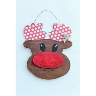 Reindeer Wall Hanger Wood Decor Accent