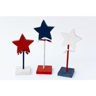 Star Trio Wood Decor Accent
