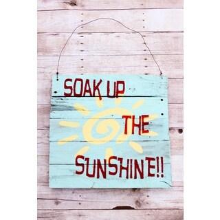 Soak Up The Sun Barn Wood Wood Sign Decor Accent