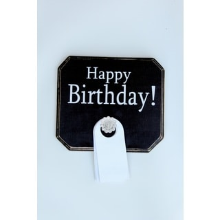 Happy Birthday Board Wood Decor Accent