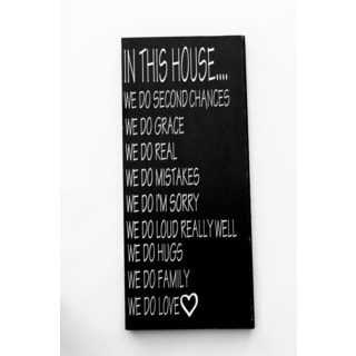 In this House Wood Decor Accent