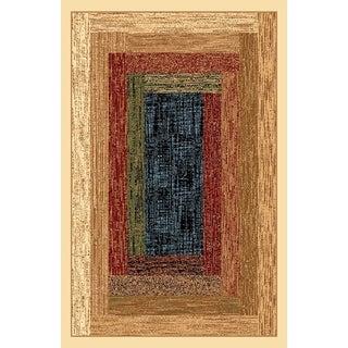 Renaissance Faded Color Block Area Rug (7'10 x 10'10)