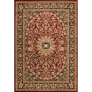 Renaissance Red/Black Traditional Medallion Area Rug (2 x 7'7)