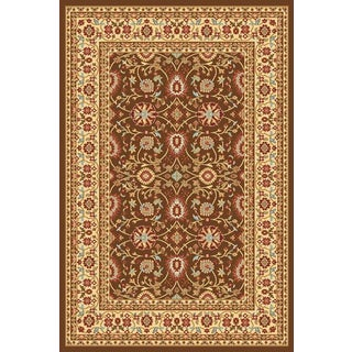 Renaissance Brown/Cream Traditional Print Area Rug (2 x 7'7)