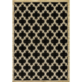 Renaissance Black Lattice Area Rug (2 x 7'7)
