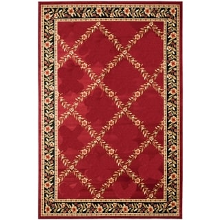 Renaissance Red Floral Lattice Area Rug (2 x 7'7)