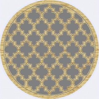 Renaissance Slate Lattice Area Rug (5'3 x 5'3 Round)