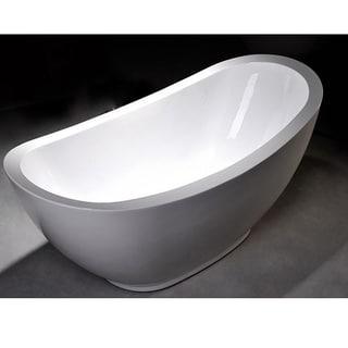 MTD Vanities Seal 69-inch Acrylic Free Standing Tub