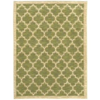 Renaissance Green Lattice Area Rug (2 x 7'7)