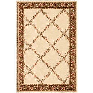Renaissance Ivory/Brown Floral Lattice Area Rug (2 x 7'7)