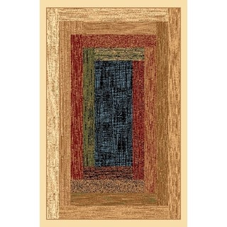 Renaissance Faded Color Block Area Rug (2 x 7'7)