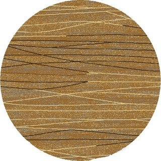 Renaissance Fractured Lines Area Rug (5'3 x 5'3 Round)
