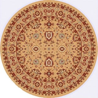 Renaissance Berber Traditional Print Area Rug (5'3 x 5'3 Round)