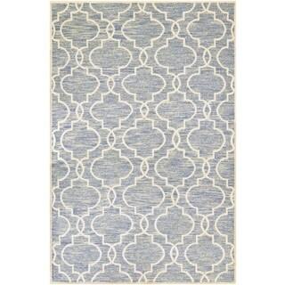 Couristan Madera Doretta/ Light Blue-White Rug (8' x 11')