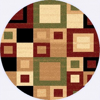Renaissance Color Block Area Rug (5'3 x 5'3 Round)