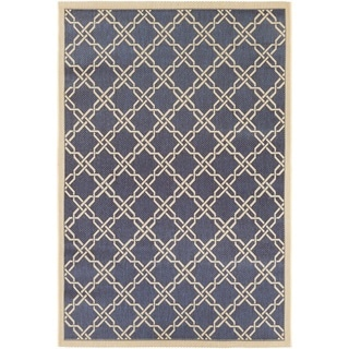 Couristan Five Seasons Sun Island/ Blue-Cream Rug (7'10 x 10'9)