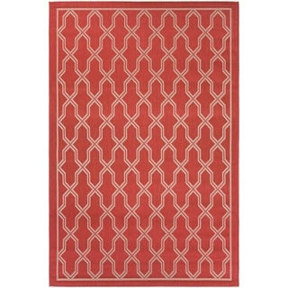 Couristan Five Seasons Crystal Coast/ Red-Cream Rug (7'10 x 10'9)